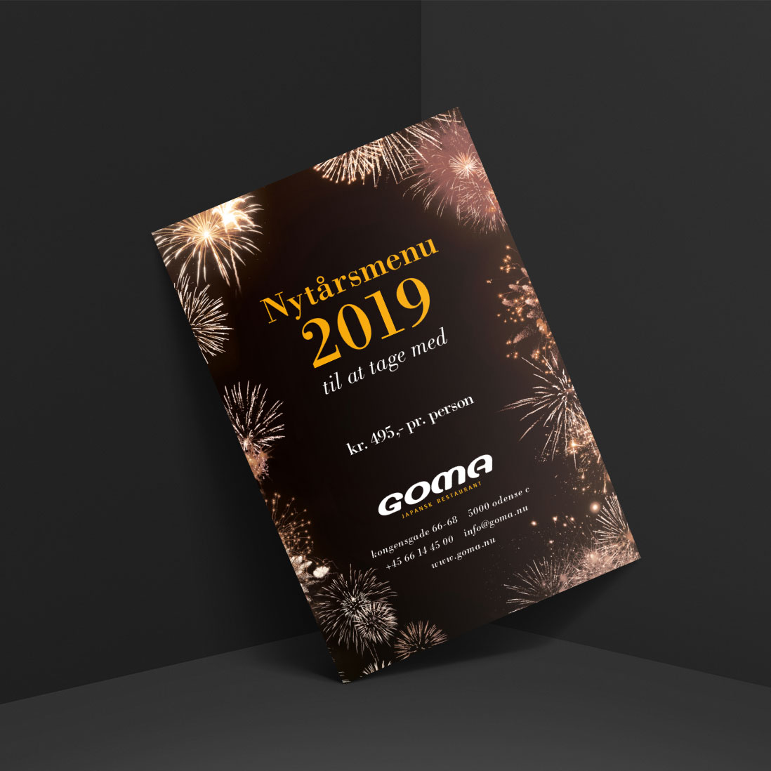 Goma nytårsmenu 2019